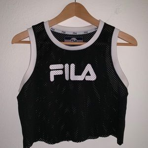 Fila cropped jersey top